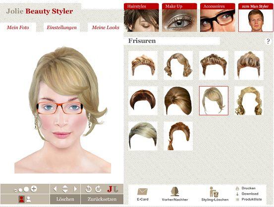 beautystylerlie traumfrisur und make up online testen