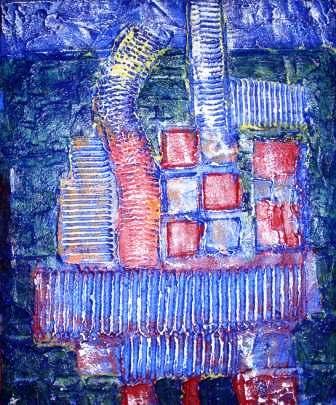 Container in Blau