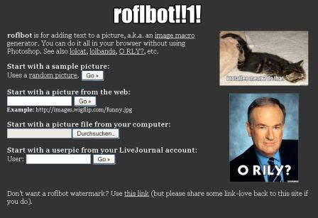 http://wigflip.com/roflbot/